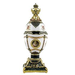 "8.5"" Imperial Eagle Faberge Inspired Russian Egg"