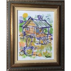 Signed James Malone, Primitive Folk Art Painting