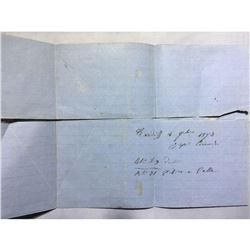 1800s London Original Postmarked Handwritten Envelope and Letter