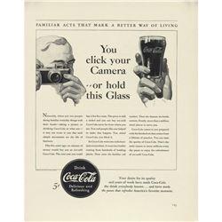 1940 Coca Cola Coke Click Your Camera Ad