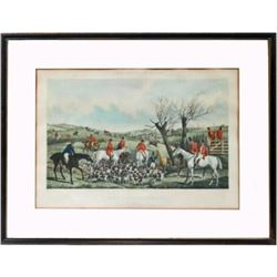 After H. Alken Late 19thc Fox Hunting Print