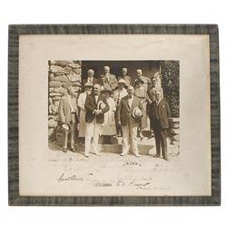 Framed photo of President Warren G. Harding