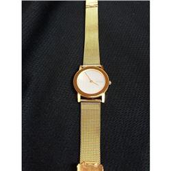 Ladies Contemporary Gold Skagen Watch