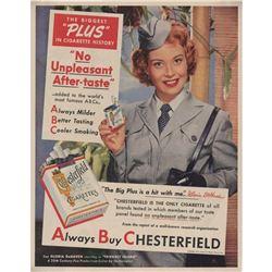 1951 Chesterfield Cigarettes Gloria DeHaven Ad
