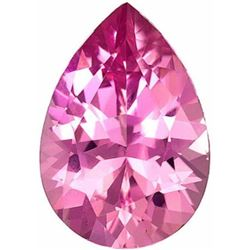 AAA Natural Pink Tourmaline Pear Faceted Gemstone