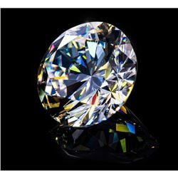 Huge Clean 6 Ct Brilliant Round Bianco Diamond 14 mm