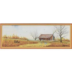 Daniel Maldonado (Texas) Framed Watercolor Painting