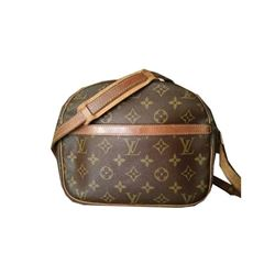 Auth Louis Vuitton Monogram Senlis Handbag, Crossbody Bag, Suntan Cowhide, Vintage before 1980s