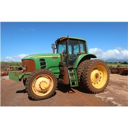 John Deere 7430 Tractor (Runs & Drives See Video)