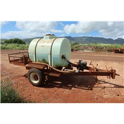 Trailer-Mounted Fertilizer Spray Tank w/ Honda Gas Pump
