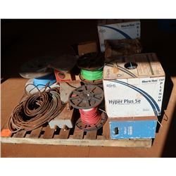 Contents of Pallet: Misc. Wire