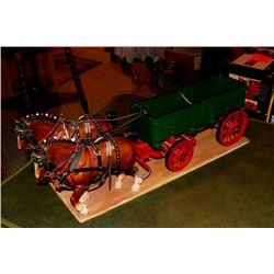 Horses + Wagon
