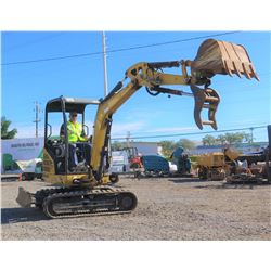 2013 Cat 302.4D Mini Excavator 6K, 1449 Hours - Runs & Works, See Video