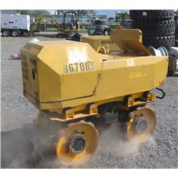 2012 MQ1515 MI33 Trench Roller w/ Remote, Includes Extra Set of Drums - Runs & Works, See VideoI