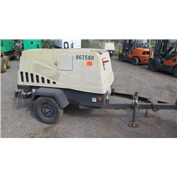 2010 Doosan 185CFM Diesel Air Compressor, 1239 Hours - Turns Over, Does Not Run, See Video
