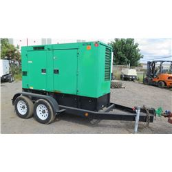 2012 MQ Power DCA-70USI2C Diesel Generator, 56KW, 10453 Hours, Starts & Runs