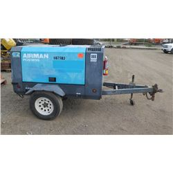2010 Airman PDS185S Diesel Air Compressor, 6914 Hours - Runs & Blows Air, See Video