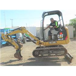 2013 Cat 302.4D Mini Excavator 6K, 1098 Hours - Runs & Works, See Video