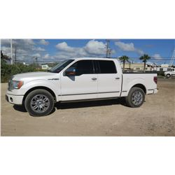 2010 Ford Platinum F-150 Pickup Truck, Quad Cab, 98330 Miles, Lic. 072TTZ - Runs & Drives, See Video