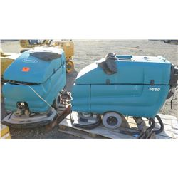 Qty 2 Tennant 5680 Walk-Behind Scrubber (for parts/repair)