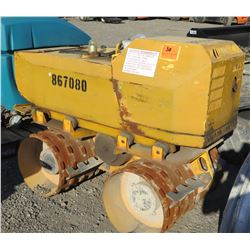 2012 Rammax MQ1515 MI33 Trench Roller w/Remote, Includes Extra Set of Drums (Needs Repair)