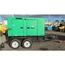 2011 MQ Power DCA-70USI2C Diesel Generator, 56KW, 15026 Hours, Starts & Runs See Video