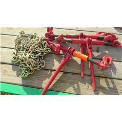 Qty 3 Chain Binders and 1 Chain