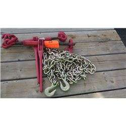 Qty 2 Chain Binders and 1 Chain