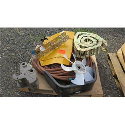 Contents of Pallet: Air Hose, Fan, Attachments, etc.