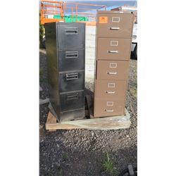 Qty 2 Metal File Cabinets