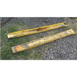 Qty 2 Forklift Extensions (1 is slightly bent)