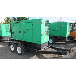 2011 MQ Power DCA-70USI2C Diesel Generator, 56KW, 9359 Hours, Starts & Runs See Video