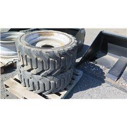 Qty 2 OTR 355/55D Tires With Rims
