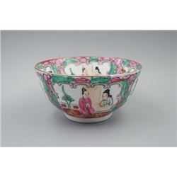 "An Export Guangcai ""Figure and Floral"" Bowl."