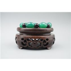 An Agate Barrel Beads Bracelet.