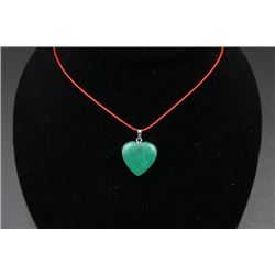 "A Green ""Heart"" Pendant."