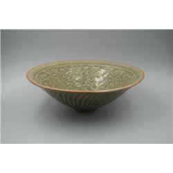 "A Large ""Yao Zhou"" Kiln ""Boys and Floral"" Bowl."