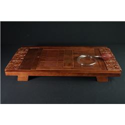 "A Wood Carved ""Cloud"" Tea Table."