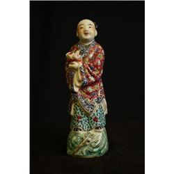 A Late Qing Dynasty Figure Statue