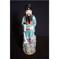 "A Late Qing Dynasty ""Deng, Rongchang Zao"" Mark Figure Statue."