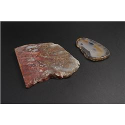 An Agate Slice and a Montana Agate Slice.
