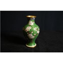 "An Early 20th Century Small Cloisonne Enamel ""Floral"" Vase."