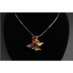 "An American ""Eagle"" Pendant with Necklace."