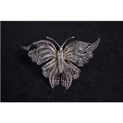 "An Early 20th Century Silver Lace ""Butterfly"" Brooch"