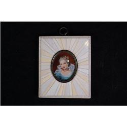 A small European miniature painting sister Louis XVI.