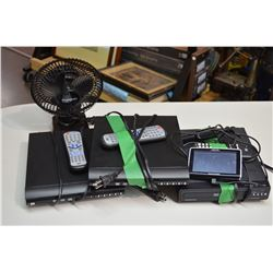 3 DVD's, Megellan GPS & Desk Fan