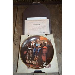 """Evenings Ease"" by Norman Rockwell; Collector Plate"