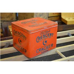 LARGE Vintage Cracker Tin - Great Cond!