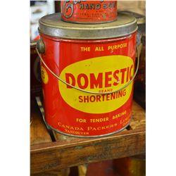 Domestic Shortening Tin
