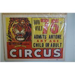 Birnam Bros. Circus Poster